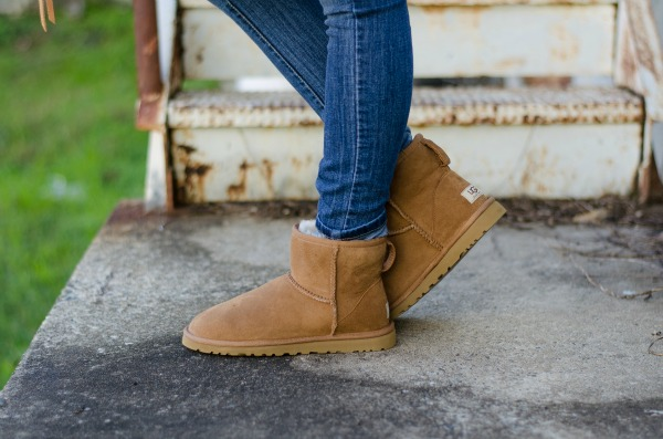 31b52abdd9d ugg australia classic mini boots in chestnut | Life with Emily
