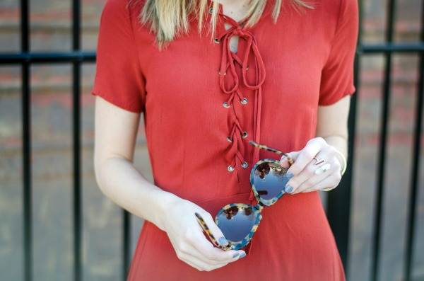 lace up dress for spring
