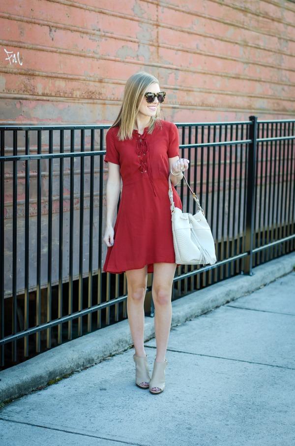lace up dress under $40