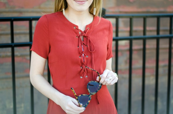 lace up dress under $50 for spring