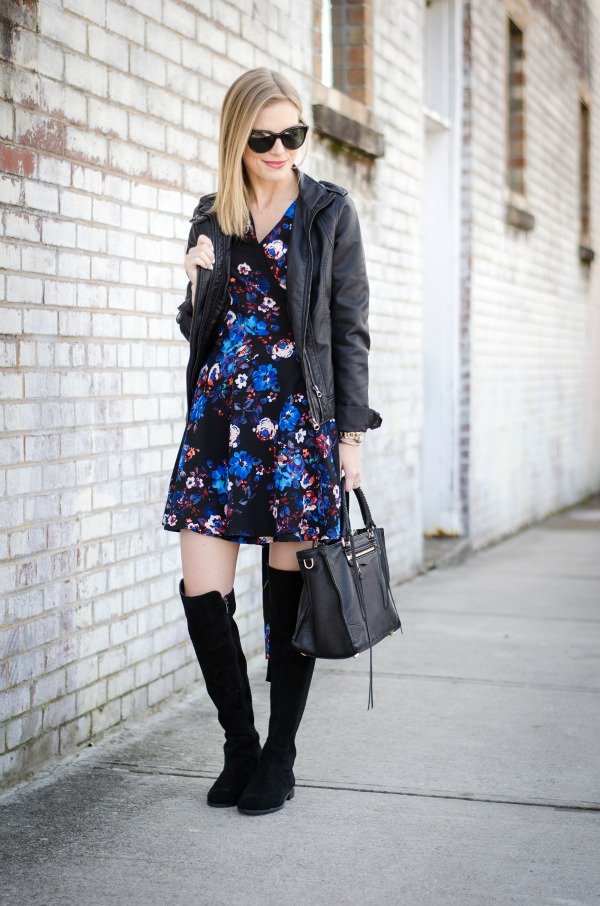Floral Print Amp Leather Life With Emily