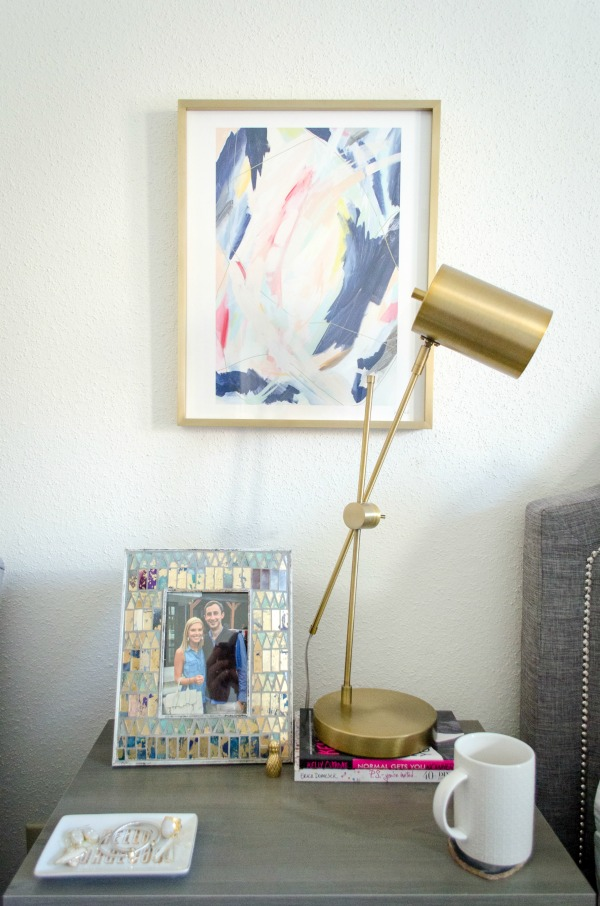 art from minted.com in brass frame