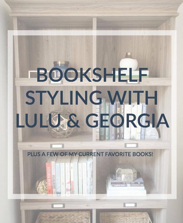 bookshelf styling with lulu & georgia