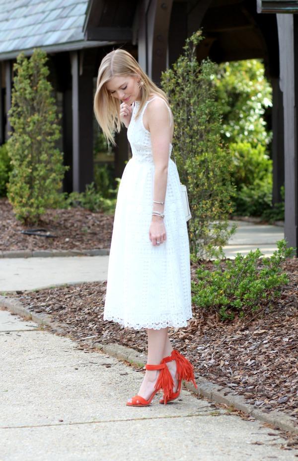 a7f6a2b58eb ASOS White Lace Midi Dress - Life With Emily