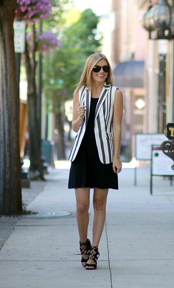 Talbots Striped Sleeveless Blazer 3
