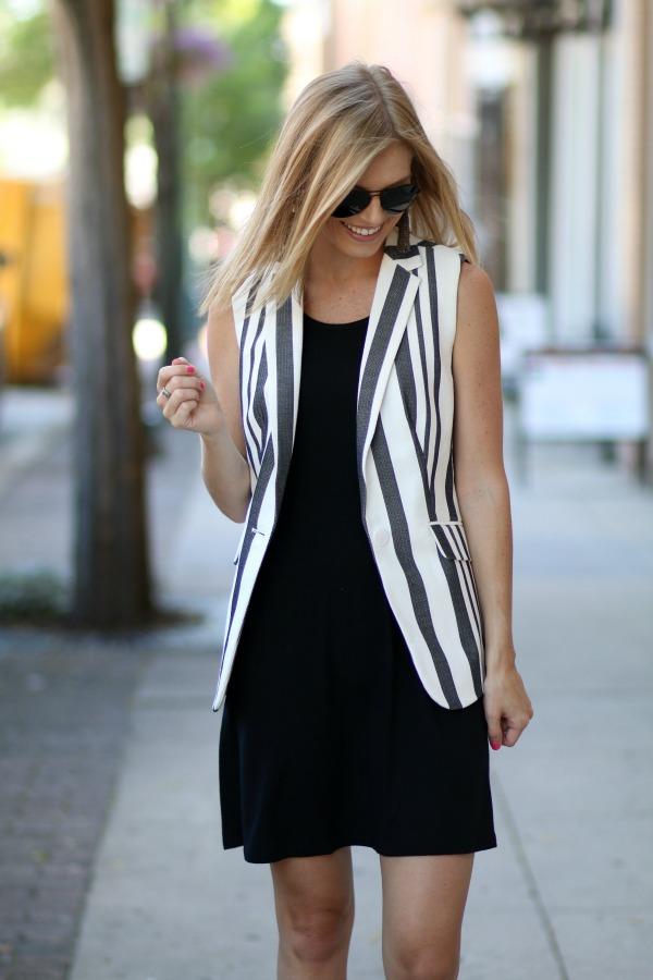 Talbots Striped Sleeveless Blazer 5