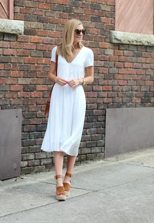 d14c3d42d0c1 WAYF Blouson Midi Dress White 2
