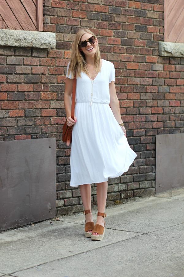 a551f7319f8e WAYF Blouson Midi Dress White 5
