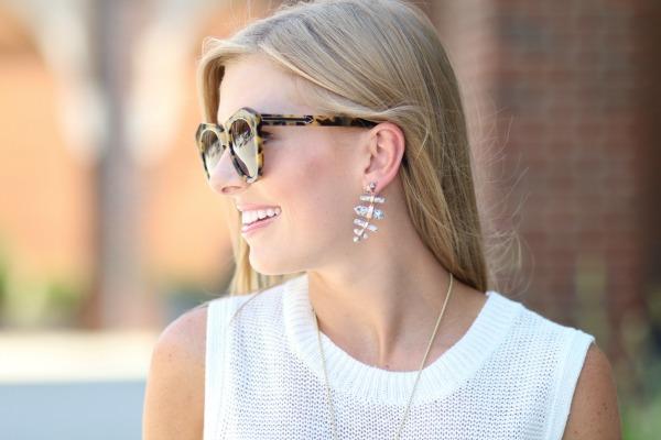 kendra scott talia earrings in grey granite