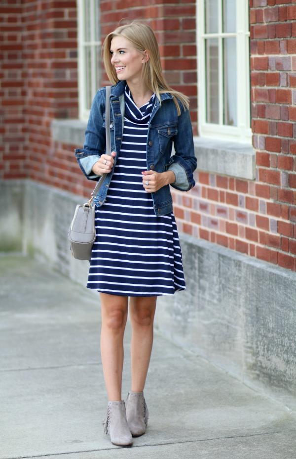 nordstrom anniversary sale striped cowlneck dress 10