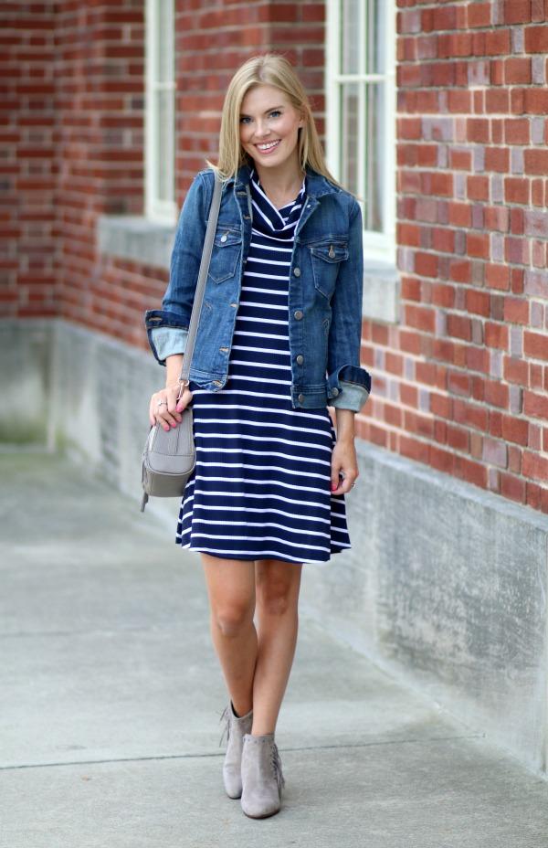 nordstrom anniversary sale striped cowlneck dress 12