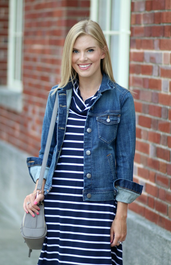 nordstrom anniversary sale striped cowlneck dress 14