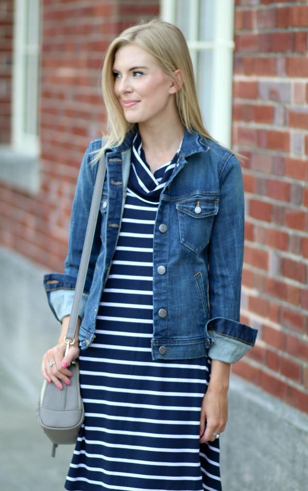 nordstrom anniversary sale striped cowlneck dress 16