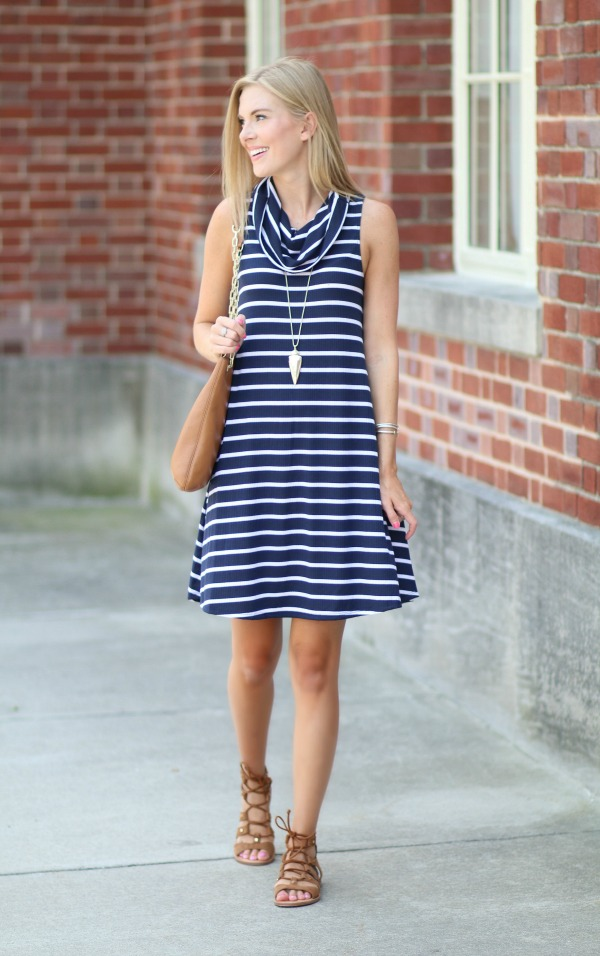 nordstrom anniversary sale striped cowlneck dress 2