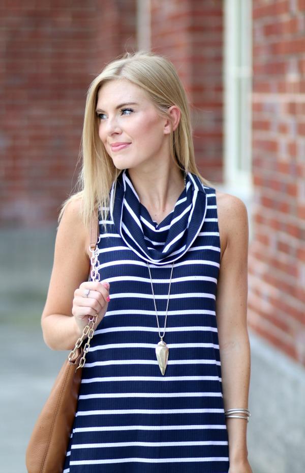 nordstrom anniversary sale striped cowlneck dress 9
