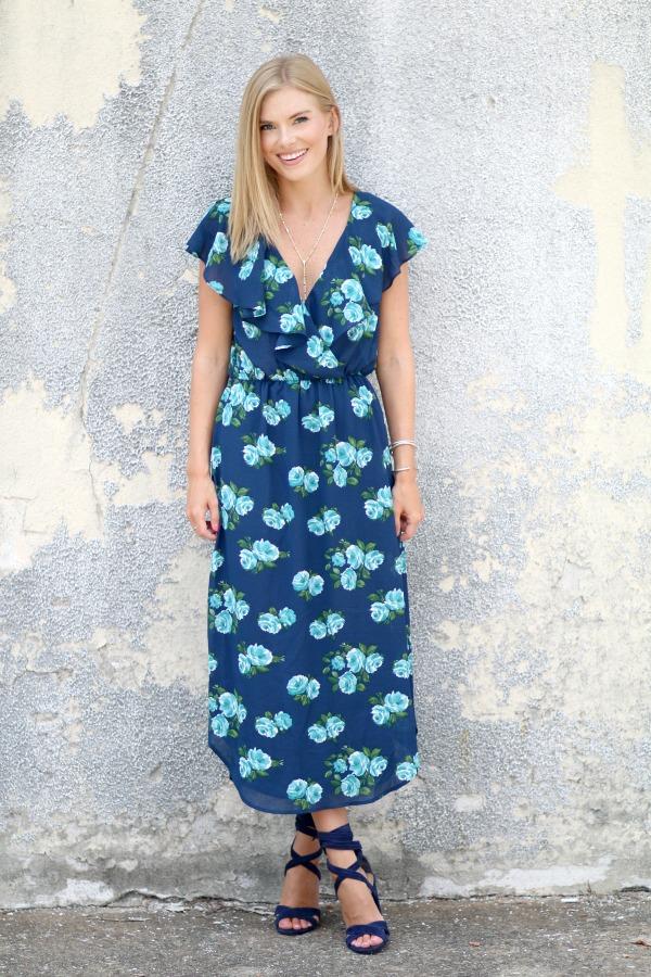 WAYF floral midi dress 3