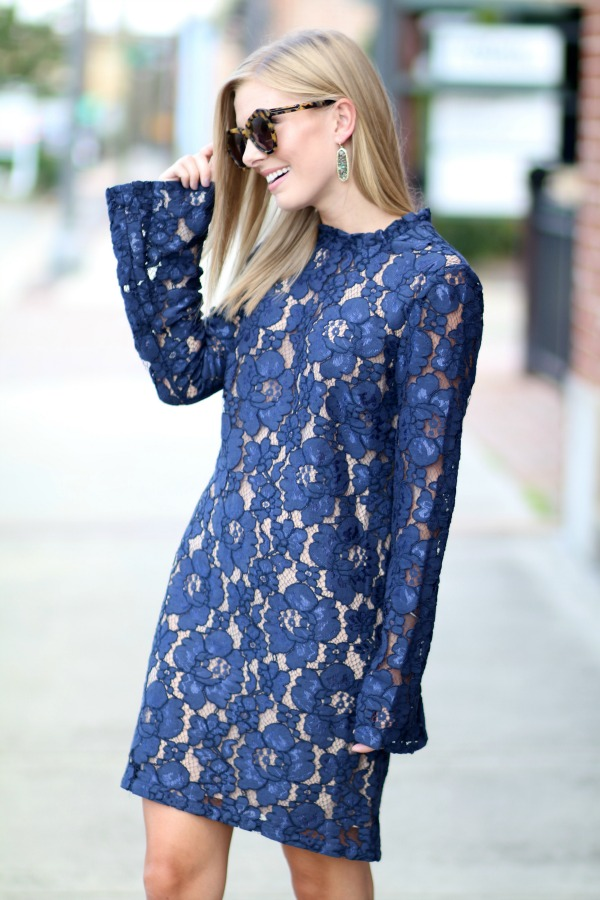 Navy Lace Shift Dress Nordstrom Life With Emily Bog