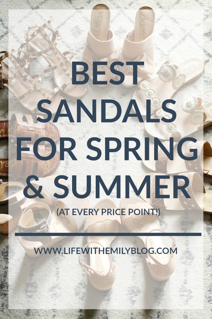 best sandals for spring summer
