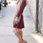Fit and Flare Dress + Favorite Fall Scarf