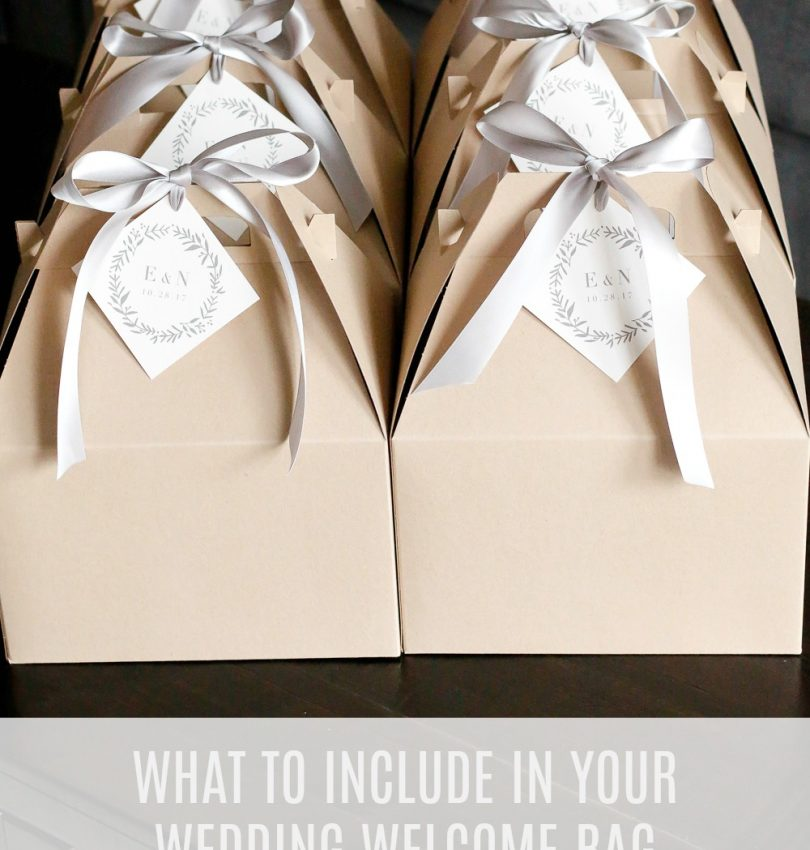 what to include in wedding welcome bags