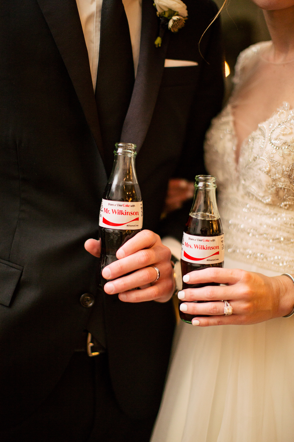 Diet Coke wedding favors