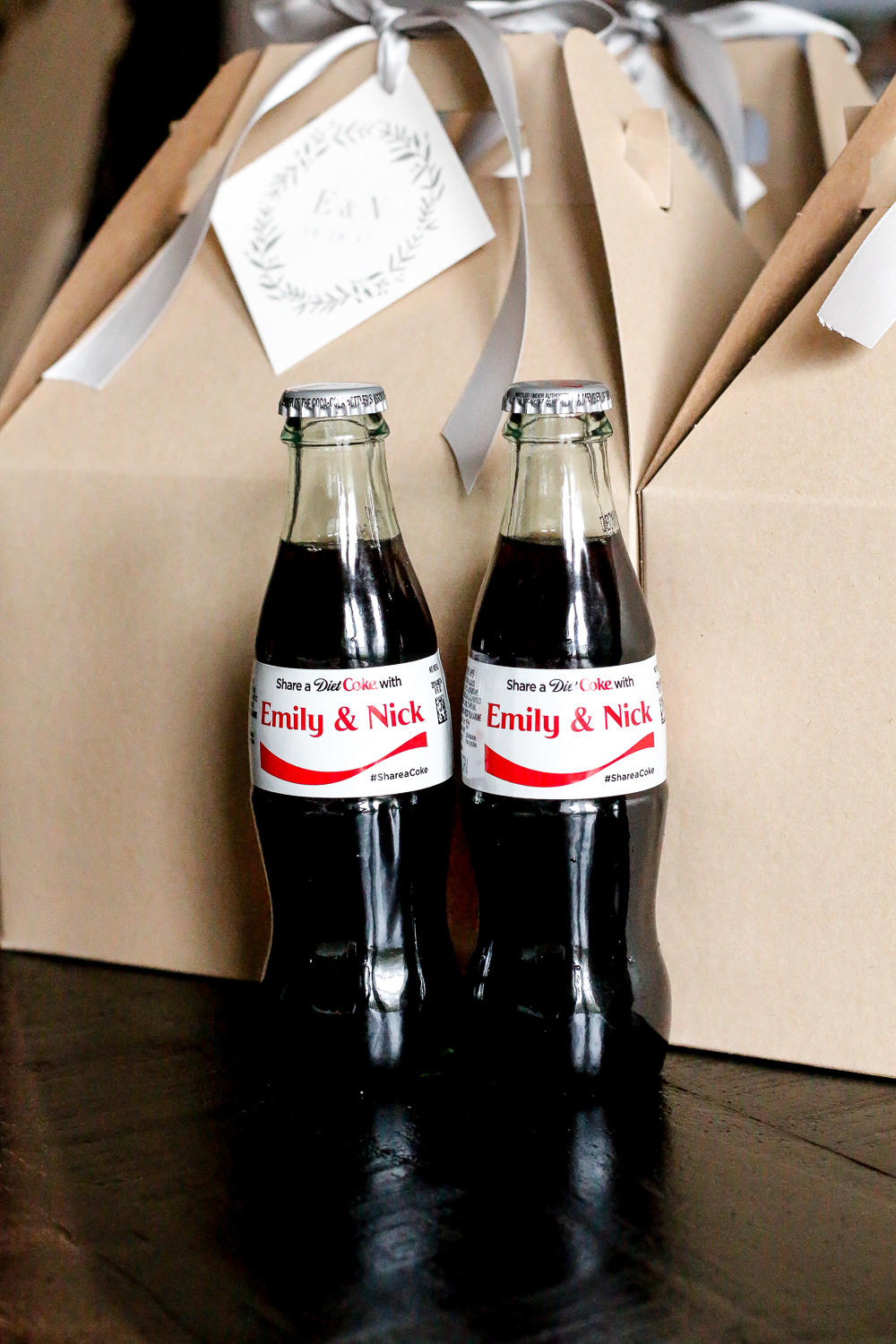 personalized Diet Coke wedding