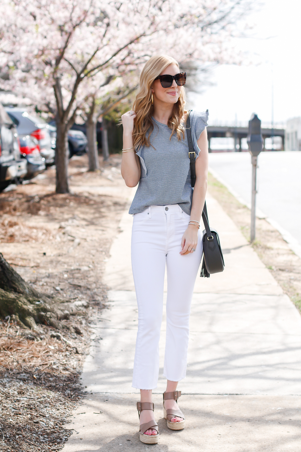 ab42c283b02 Ruffle Top & White Jeans   Life with Emily