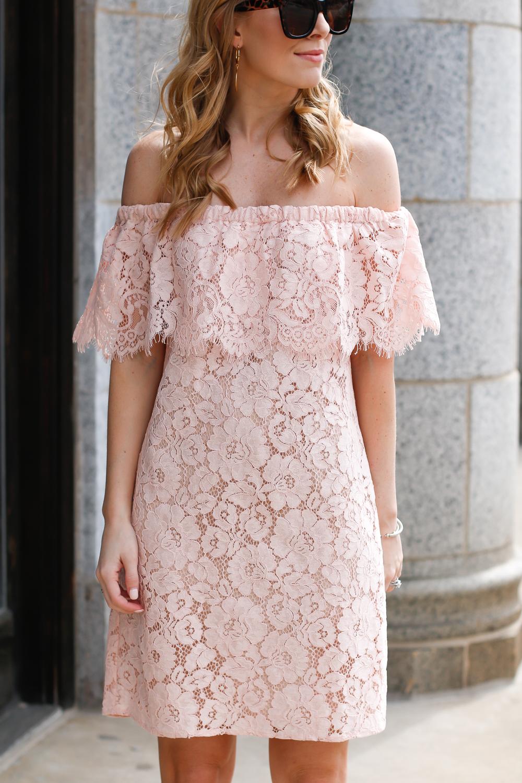 wayf off the shoulder dress
