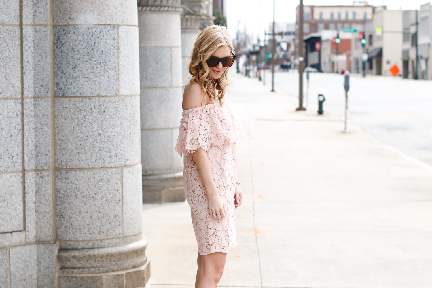 wayf off the shoulder dress lord & Taylor