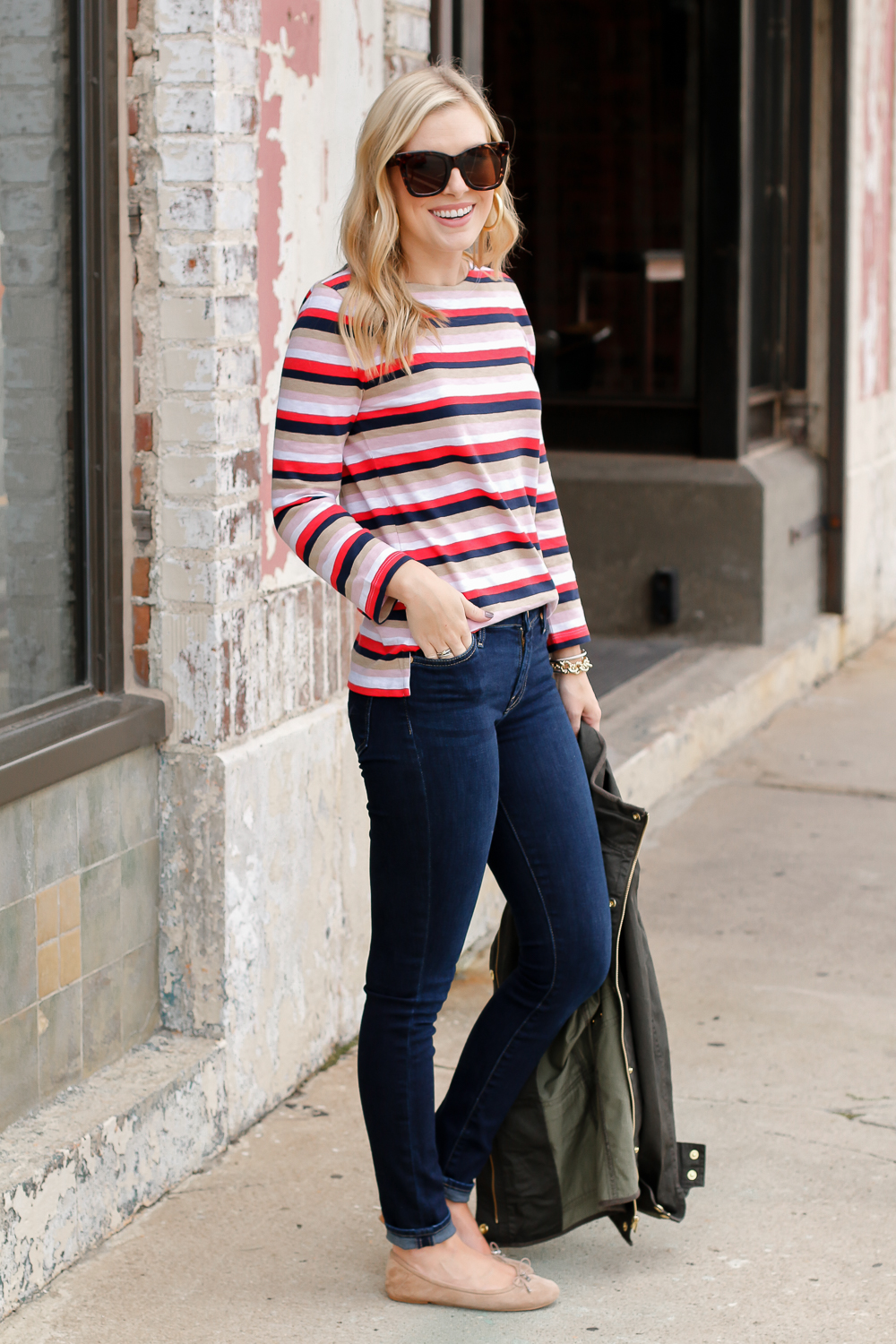 how to style stripes for fall