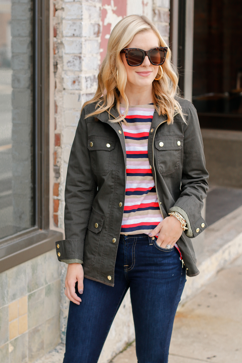 how to style the jcrew field jacket
