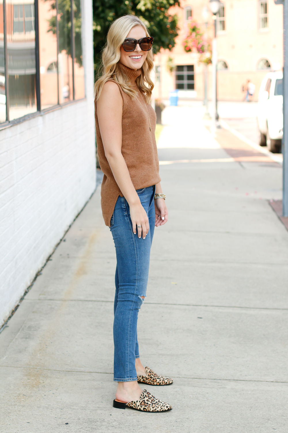 transitional outfit idea for fall