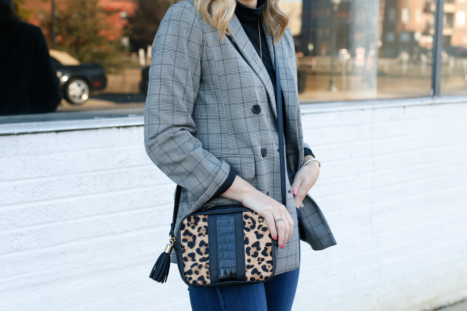 Gigi New York leopard bag