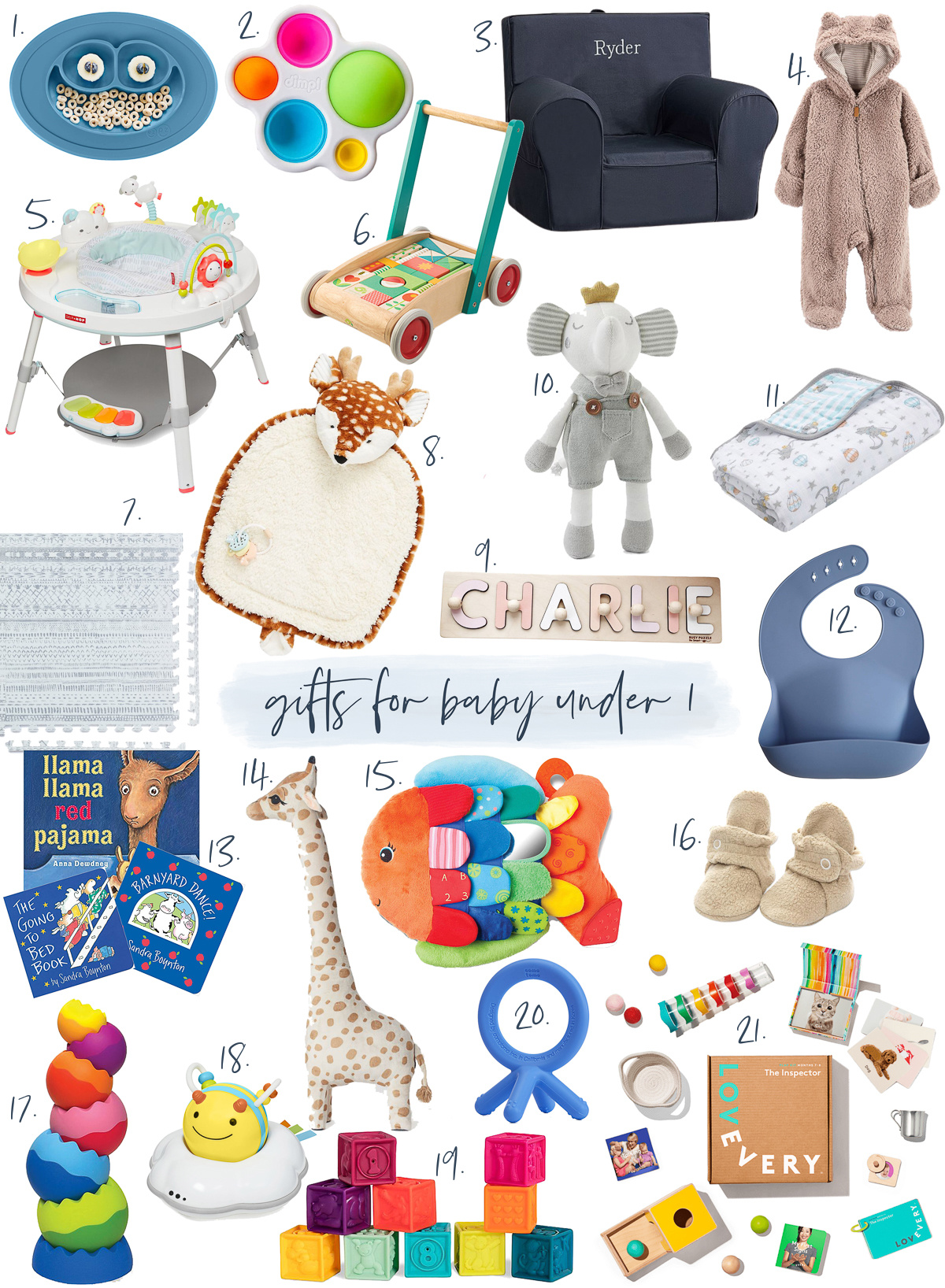 gift guide for babies under one year old